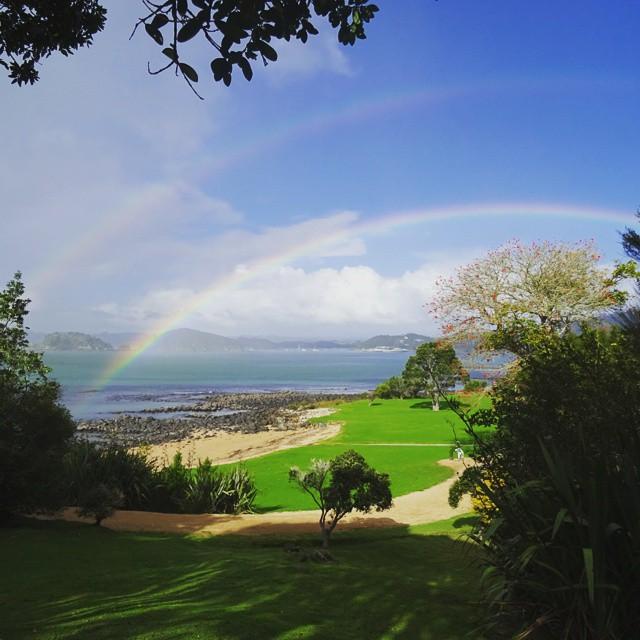 Paihia, New Zealand: Double Rainbow
