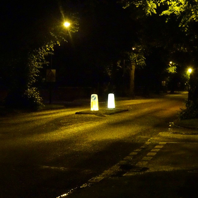 Doncaster, UK: Home at night